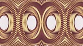 vivid wall : ornamental gold metal chain kaleidoscope seamless loop pattern animation abstract background New quality ethnic tribal holiday native universal motion dynamic cool nice joyful music video