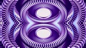 cubic : shiny ornamental purple metal chain kaleidoscope seamless loop pattern animation abstract background New quality ethnic tribal holiday native universal motion dynamic cool nice joyful music video Stock Footage