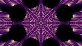 doodle : shiny ornamental purple metal chain kaleidoscope seamless loop pattern animation abstract background New quality ethnic tribal holiday native universal motion dynamic cool nice joyful music video Stock Footage