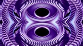 psychedelic colors : shiny ornamental purple metal chain kaleidoscope seamless loop pattern animation abstract background New quality ethnic tribal holiday native universal motion dynamic cool nice joyful music video Stock Footage