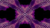 vivid wall : shiny ornamental purple metal chain kaleidoscope seamless loop pattern animation abstract background New quality ethnic tribal holiday native universal motion dynamic cool nice joyful music video Stock Footage