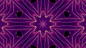 hipnoza : shiny ornamental purple metal chain kaleidoscope seamless loop pattern animation abstract background New quality ethnic tribal holiday native universal motion dynamic cool nice joyful music video Wideo