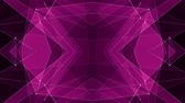 вычислять : abstract symmetrical PINK poligon shape net cloud animation background new quality dynamic technology motion colorful video footage
