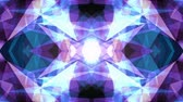 вычислять : abstract symmetrical BLUE PURPLE polygon shape net shiny cloud animation background new quality dynamic technology motion colorful video footage
