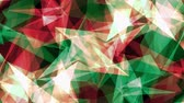 расчет : abstract symmetrical GREEN RED polygon star shape net shiny cloud animation background new quality dynamic technology motion colorful video footage