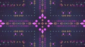 motivo floreale : ornamental lights symmetrical kaleidoscopic ethnic tribal psychedelic pattern animation background New quality retro vintage holiday native universal motion dynamic cool nice joyful music video Filmati Stock