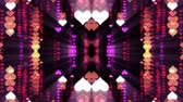curvo : ornamental heart shaped lights symmetrical kaleidoscopic ethnic tribal psychedelic pattern animation background New quality retro vintage holiday native universal motion dynamic cool nice joyful video
