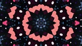 cristal : ornamental heart shaped lights symmetrical kaleidoscopic ethnic tribal psychedelic pattern animation background New quality retro vintage holiday native universal motion dynamic cool nice joyful video