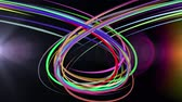 curvo : abstract rainbow color drawn elegant lines stripes beautiful animation background New quality universal motion dynamic animated colorful joyful music video footage