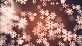 happy new year : random floating snowflake animation background New quality shape universal motion dynamic animated colorful joyful holiday music video footage Stock Footage