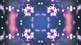 cubic : symmetrical shiny stars moving fading pattern animation New quality retro vintage holiday shape colorful universal motion dynamic animated joyful dance music video footage