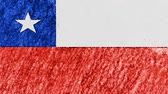 geográfico : stop motion pastel chalk crayon drawn CHILE flag cartoon animation seamless loop background new quality national patriotic colorful symbol video footage Vídeos