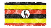 siyaset : stop motion marker drawn UGANDA flag cartoon animation background new quality national patriotic colorful symbol video footage Stok Video