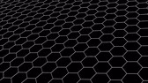 rascunho : hexagonal grid net field landscape seamless loop drawing motion graphics animation background new quality vintage style cool nice beautiful 4k stock video footage Stock Footage