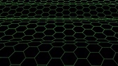 formül : hexagonal grid net waving field landscape seamless loop drawing motion graphics animation background new quality vintage style cool nice beautiful 4k video footage Stok Video