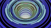 錯覚 : Colorful wormhole funnel tunnel flight seamless loop animation background new quality vintage style cool nice beautiful 4k stock video footage