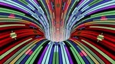 funil : Colorful wormhole funnel tunnel flight seamless loop animation background new quality vintage style cool nice beautiful 4k stock video footage