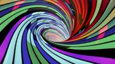 dimensões : Colorful spiral wormhole funnel tunnel flight seamless loop animation background new quality vintage style cool nice beautiful 4k stock video footage Vídeos
