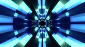 оптический : Flight in out neon lights cyber data vr tunnel motion graphics animation background seamless loop new quality futuristic cool nice beautiful 4k stock video footage