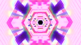 оптический : Flight in out neon lights cyber data hexagonal vr tunnel motion graphics animation background seamless loop new quality futuristic cool nice beautiful 4k stock video footage Стоковые видеозаписи