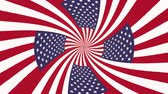 honra : endless mesmeric hypnotic spiral USA flag seamless loop animation background new quality cool nice beautiful 4k stock video footage