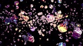 copo : colorful liquid metal water drops randomly diffused in space digital animation background new quality natural motion graphics cool nice beautiful 4k stock video footage