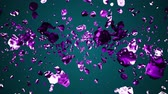 mercurius : purple pink liquid metal water drops random diffused in space digital animation background new quality natural motion graphics cool nice beautiful 4k stock video footage