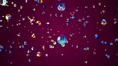 mercúrio : colorful liquid metal water bubble floating up in space digital animation background new quality natural motion graphics cool nice beautiful 4k stock video footage