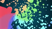 глина : rainbow spiral colorful splatter blot spreading turbulent moving abstract painting animation background new unique quality art stylish joyful cool nice motion dynamic beautiful 4k stock video footage