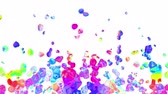 глина : rainbow colorful paint splatter blot drops spreading turbulent moving abstract painting animation background new unique quality art stylish joyful cool nice motion dynamic beautiful 4k video footage Стоковые видеозаписи
