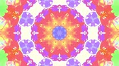 vivid wall : ornamental kaleidoscope moving rainbow shape pattern animation background seamless loop New quality retro vintage holiday shape colorful universal motion dynamic animated joyful music video footage