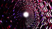 оптический : flight through 3d colorful polygonal scales tunnel background new quality motion graphics animation cool nice beautiful 4k video stock footage Стоковые видеозаписи