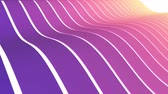 лента : soft waving striped fabric abstract lines gentle flow seamless loop animation background new quality dynamic art motion colorful cool nice beautiful video 4k artistic stock footage Стоковые видеозаписи