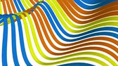 tiras : soft waving stripes fabric rubber bands abstract lines gentle flow seamless loop animation background new quality dynamic art motion colorful cool nice beautiful video 4k artistic stock footage