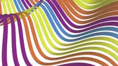 kıvırmak : soft waving stripes fabric rubber bands abstract lines gentle flow seamless loop animation background new quality dynamic art motion colorful cool nice beautiful video 4k artistic stock footage