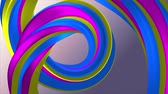 básico : Soft colors 3D curved rainbow rubber band marshmallow rope candy seamless loop abstract shape animation background new quality universal motion dynamic animated colorful joyful video 4k stock footage