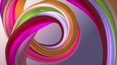 sonhar : Soft colors 3D curved rainbow rubber band marshmallow rope candy seamless loop abstract shape animation background new quality universal motion dynamic animated colorful joyful video 4k stock footage