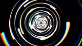 segmento : rainbow color glitch rotating lspiral ines drops background animation New quality universal motion dynamic animated technological colorful joyful dance music video 4k 60p stock video footage