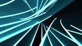abstract neon lines lights rotating seamless loop motion graphics animation background new quality techno style colorful cool nice beautiful 4k stock video footage