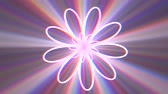 flower neon lights rotating motion graphics animation background new quality techno style colorful cool nice beautiful 4k stock video footage