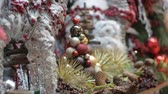 bombki : Christmas and New Year Decoration. Abstract Holiday Background.