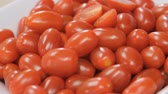 saláta : Fresh Cherry tomatoes juicy Stock mozgókép
