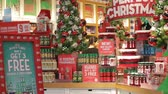 Shopping on Christmas Stok Video