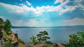 omurga : Panoramic view of the lake timelapse