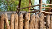 log : Wood Fence, old traditional fence construction.