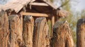 все : Wood Fence, old traditional fence construction.