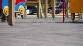 playground : Active children playing on a playground
