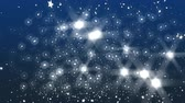 개념 : 3d animation New Year background with snowflakes,
