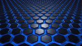 globalizace : Hexagon texture black with blue background. Uhd 4k background, backdrop texture
