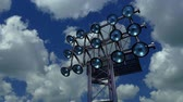 Lighting rack with spotlights for football stadiums and other areas. 3D rendering